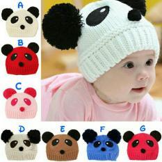 Topi Kupluk Anak Bayi Cute Panda Rajut/Topi Kupluk Anak/Topi Rajut