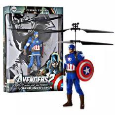 Jual Toy Flying Avengers Captain America Blue Murah