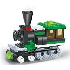 Toy Train Building Set-68 Pcs Blok Bangunan Uap Mesin Lokomotif Kereta Kereta Api Dilengkapi dengan 2 Windows Kabin, Penuh Yang Bagus Waktu Menyenangkan-A Harus Hadiah untuk Semua 6 + Anak-Intl