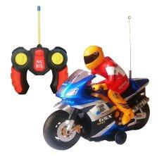 Review Toko Toylogy Mainan Anak Remot Control Motor Balap Biru Radio Control Motorcycle 8815 Rc Blue Online
