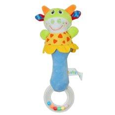 Toko Mainan Model Hewan Handbells Rattleszoo Squeeze Me Rattle Cute Hadiah Bayi Mainan Pendidikan Usia Untuk 3 M Warna Intl Termurah