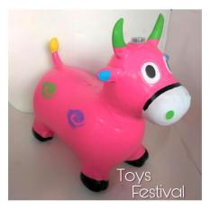 Toys Jumping Animal Music / Mainan Tunggang Karet Pink Kambing/kuda/sapi/rusa By Toys Festival.