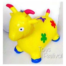 Toys Jumping Animal Music Or Sound Kuning / Mainan Tunggang Karet Jenis Kambing/sapi/rusa/kuda By Toys Festival