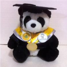 TR Boneka Wisuda Panda Toga Asli Seperti Almamater 30 cm - Black