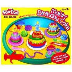 TSH Mainan Edukasi Lilin Fun Doh Making Birthday Cake  Kue Ulang Tahun - Multi Colour