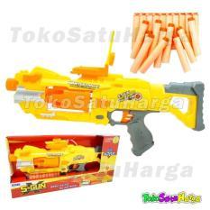 TSH Pistol Mainan Mirip Nerf Semi Auto S-GUN 7004 Bonus Peluru Soft Bullet
