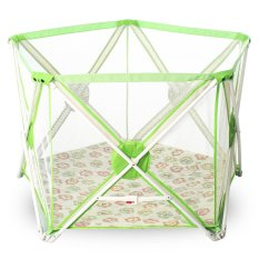 Twomother 5 Sides Portable Playard Playpen Green By New Generation Indonesia.