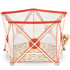 Twomother 5 Sides Portable Playard Playpen Orange By New Generation Indonesia