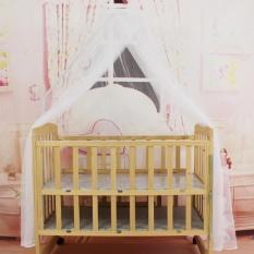Ubest Tempat Tidur Bayi Kelambu Bayi Portable Ukuran Round Balita Nyamuk Mesh Net Putih-Intl