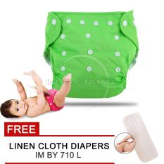 Cloth diaper / Cloth diapers / Clodi Popok Kain Bayi BY 72 / Pampers Kain GREEN + FREE INSERT