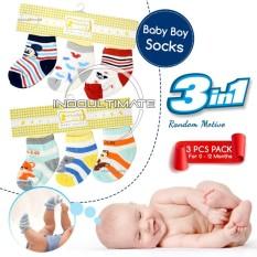 Ultimate Set Kaos Kaki Bayi Newborn Laki-Laki 3in1 / Kaos kaki Cowok / Pria /Foot Cover / Baby Sock
