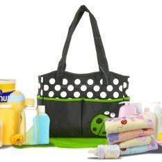 Harga Premium Waterproof Tas Bayi Besar 4 Saku Extra Free Alas Tas Baby Tas Diapers Susu Perlengkapan Bayi Baby Diaper Bag By 02 Lady Bug Green Murah