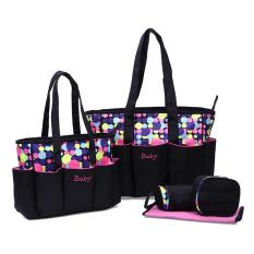Spesifikasi 5 In 1 Premium Waterproof Tas Bayi Besar Besar Lengkap Multifungsi Extra Pocket Botol Susu By 03 Polkadot Pink Merk Ultimate