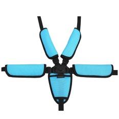 Universal Bayi Kid 5 Titik Safety Seat Harness Belt Strap Untuk Stroller Kursi Tinggi Dorong Buggy Kid Kursi Dorong Biru