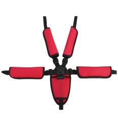 Universal Bayi Kid 5 Titik Safety Seat Harness Belt Strap Untuk Stroller Kursi Tinggi Dorong Buggy Kid Kursi Dorong Merah By Stoneky.