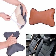 Kelas Atas Umum Kulit Otomatis Kursi Mobil Kepala Bantal Leher Bantal Sandaran Kepala Bantal Alas Grey