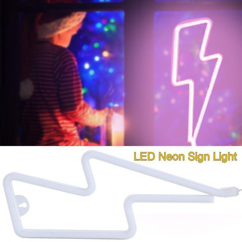 USB/Battery Powered LED NEON SIGN Light Depan Dinding Latar Belakang Toko/Pernikahan Dekorasi Lampu (Pink) -Intl