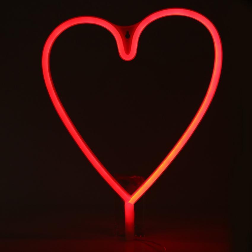 USB/Battery Powered LED NEON SIGN Light Depan Dinding Latar Belakang Toko/Pernikahan Dekorasi Lampu (Merah) -Intl