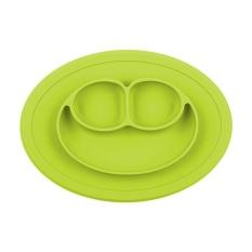 Berguna Anak Satu Kepingan Silikon Tatakan Piring Dish Food Tray Meja Alas untuk Bayi Balita Hijau-Internasional