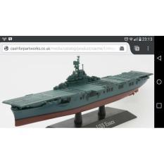 Uss Ess3x America Aircraft Carrier Wwii 1:1250 Deagostini Diecast - 73699A - Original Asli