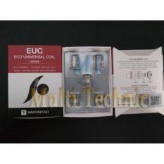 Beli Vaporesso Ceramic Euc 5Ohm Ss316L Coil 5 Pcs 6A53Ce Original Asli Online