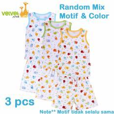 Beli Velvet Junior Basic Baby Setelan Kutung Oblong Celana Pendek Isi 3 Pcs S Murah Di Indonesia
