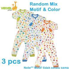 Beli Velvet Junior Basic Baby Setelan Panjang Oblong Celana Panjang Isi 3 Pcs L