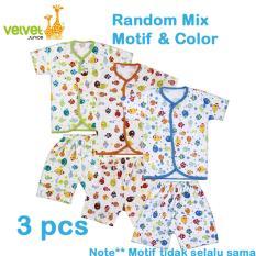 Spesifikasi Velvet Junior Basic Baby Setelan Pendek Kancing Depan Celana Pendek Isi 3 Pcs L Yang Bagus Dan Murah