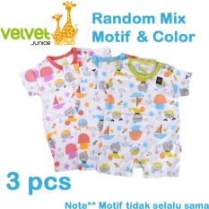 Velvet Junior Jumper Segiempat Isi 3 Pcs Newborn Velvet Junior Diskon 50