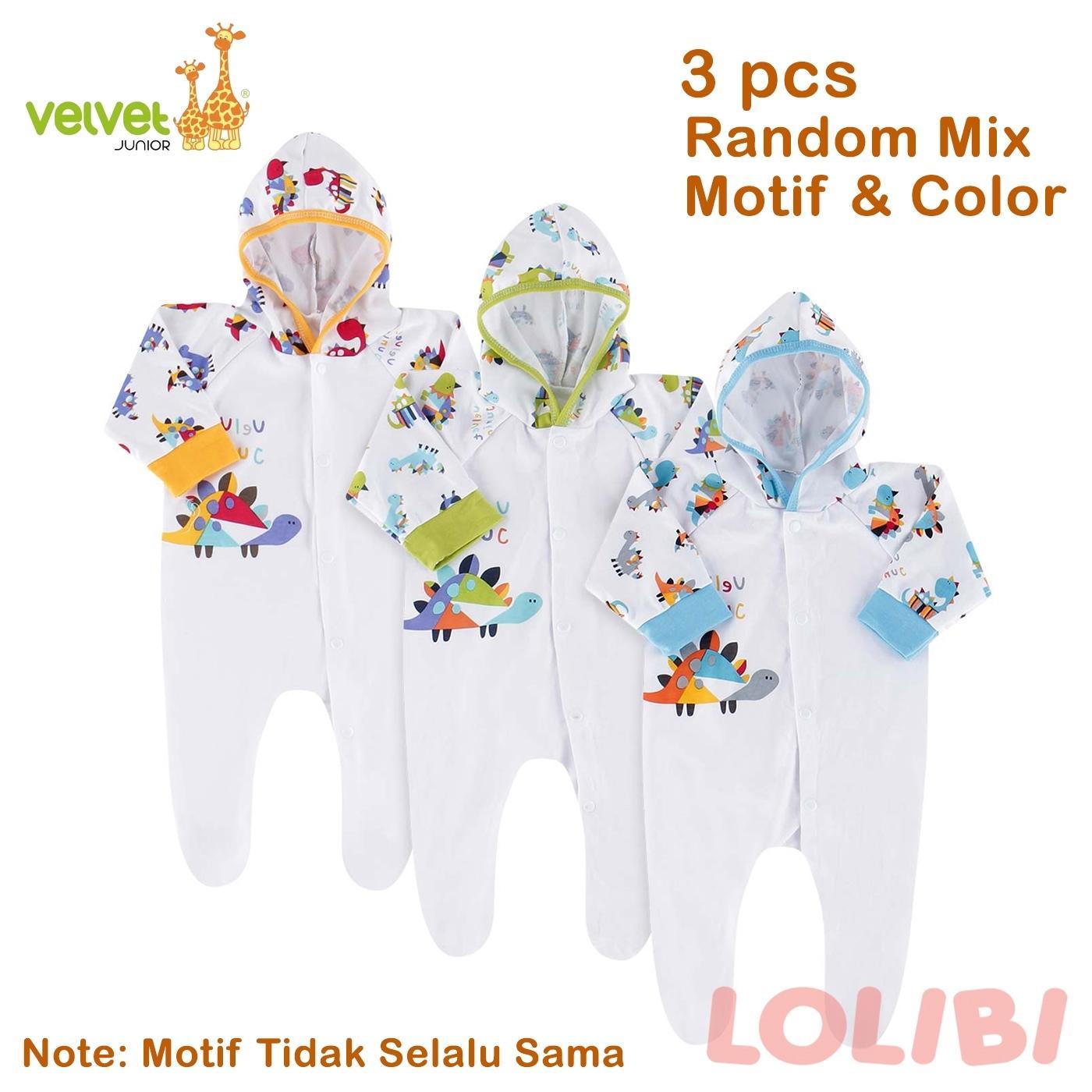 ... Pencarian Termurah Velvet Junior Playfull Random Motif Baju Kodok Topi Panjang TK NB 3 Pcs