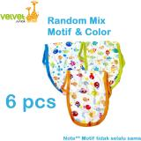 Jual Velvet Junior Popok Kain Fullprint Isi 6 Pcs Velvet Junior Murah