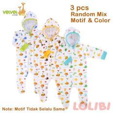 Velvet Junior Random Motif Baju Kodok Topi Panjang TK NB - 3 Pcs