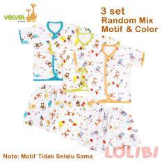 Obral Velvet Junior Random Motif Baju Pendek Celana Pendek M 3 Pcs Murah
