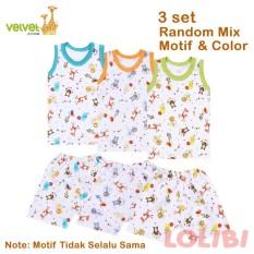 Beli Velvet Junior Random Motif Singlet Celana Pendek Xl 3 Pcs Cicilan