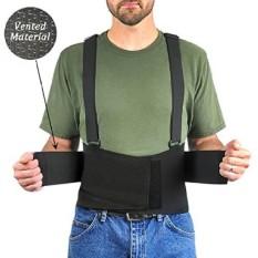 Ventilasi Elastic Back Brace Dukungan Lumbar, dengan Suspender Adjustable dan Sabuk Tumpang Tindih untuk Kompresi