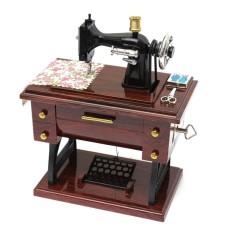 Vintage Creative Mini Sewing Machine Mechanical Music Box Gift Musical Toy Decor