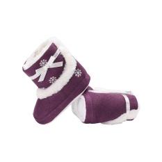 Vishine Mall-Cool Baby Sepatu Anak Balita Sepatu Salju Boots Prewalker Natal Snowflake Soft Sole Hangat-Intl