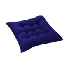 VORSTEK 11 Warna Solid Cotton Seat Bantalan Kursi Bantal Mat dengan Cord 40*40 Cm untuk Patio Rumah Mobil Sofa Kantor Tatami-Biru-Intl