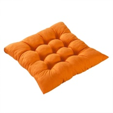 VORSTEK 11 Colors Solid Cotton Seat Pads Chair Cushion Mat With Cord 40*40CM For Patio Home Car Sofa Office Tatami - Orange - intl