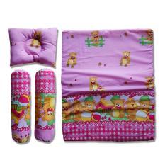 Vuvida Ceria bantal guling kasur set random motif - Pink - baby gift set