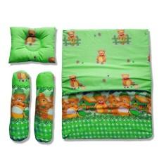Vuvida Ceria bantal guling kasur set 4 in 1 random motif - Hijau - baby gift set