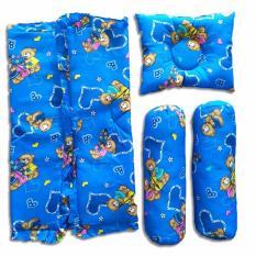 Vuvida Panda bantal guling bedcover selimut set 4 in 1 random motif - biru - baby gift set