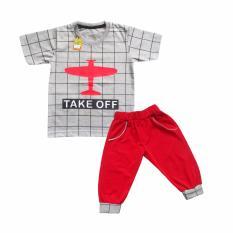 Waka Kids Baju Anak Bayi Oblong Tangan Pendek Stelan Kaos Cln 3/4 2165 -