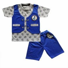 Diskon Waka Kids Baju Anak Bayi Oblong Tangan Pendek Stelan Kaos Cln Pendek 2082 Biru Ukuran 3