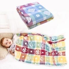 Wanying Baby Cotton Muslin Swaddle Selimut Snuggle Multi-use Di Nursery Kereta Bayi, Tempat Tidur Bayi untuk Balita, Gajah-Internasional