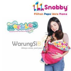 WarungSiBoss Snobby TPG 1042 Gendongan Bayi / Gendongan Anak / Gendongan Baby Samping Batita Color Marbles Double Fungsi Saku + Aday (Celemek)
