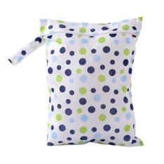 Zip Tahan Air Wet Dry Bag untuk Bayi Bayi Popok Popok Pouch Reusable Biru-Intl