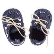Beli Menolak Mendukung Memakai Kanvas Bayi Sepatu Balita Biru Tua Baru