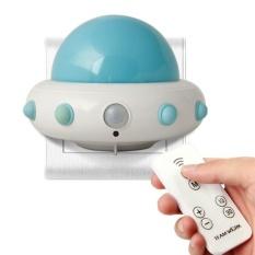 Weishi Anak-anak Cahaya Malam Kecil dengan Timer Plug In Wall Night LampFor Anak-anak. Remote Control untuk 3 Mode Pencahayaan. 5 Gelar Terang. Waktu 10/30 Min (Biru)-Intl