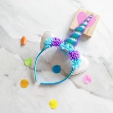 Harga Weiyue Fashion Kids Tanduk Unicorn Rambut Hoop Headband Bulang Halloween Supply Intl New